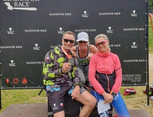 Martina S Kelwinem na 2 místě v Gladiator race: