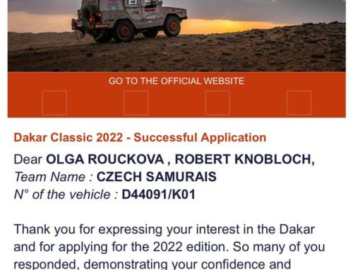 První krůček – Přijati na Dakar 2022